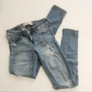 Hollister Distressed Light Wash Skinny Jeans